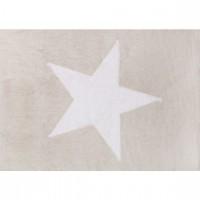 Caramella - Beżowy dywan z białą gwiazdą