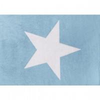 Caramella - Błękitny dywan z białą gwiazdą