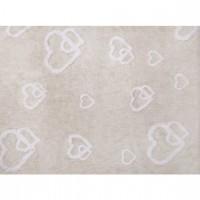 Caramella - Beżowy dywan z serduszkami