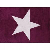 Caramella - Fioletowy dywan z białą gwiazdą
