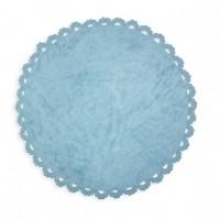 Caramella - Dywan okrągły błękitny z kroszetką