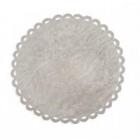 Caramella - Dywan okrągły szary z kroszetką