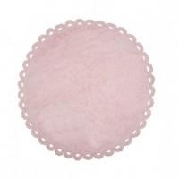 Caramella - Dywan okrągły różowy z kroszetką
