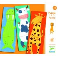 Djeco - Puzzle 1.2.3. Animo