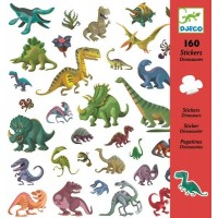 Djeco - 160 naklejek z dinozaurami