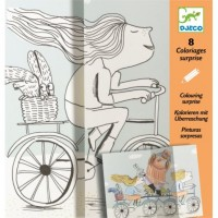 Djeco - Kolorowanka Niespodzianka - Rower