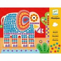 """Djeco - Mozaiki piankowe """"Słonie i ślimaki"""""""