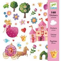 Djeco - Zestaw 160 Naklejek Princess Marguerite
