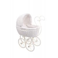 Legler - Wózek Wiklinowy- biały