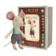 Maileg- Myszka Młodszy Brat w pudełku po zapałkach