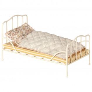 Maileg - Metalowe łóżeczko vintage w kolorze off-white