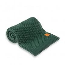 Nordville - Delikatny i mięciutki kocyk tkany dla niemowląt i dzieci- butelkowa zieleń