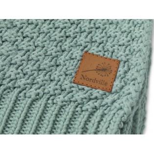 Nordville - Delikatny i mięciutki kocyk tkany dla niemowląt i dzieci- zielony