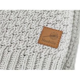 Nordville - Delikatny i mięciutki kocyk tkany dla niemowląt i dzieci- beż