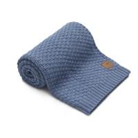 Nordville - Delikatny i mięciutki kocyk tkany dla niemowląt i dzieci- niebieski