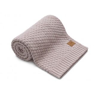 Nordville - Delikatny i mięciutki kocyk tkany dla niemowląt i dzieci- blady róż