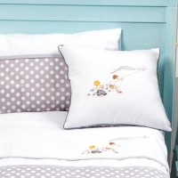 Color Stories - Cushion- Grey Dots