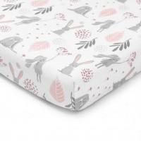 Color Stories - Prześcieradło do łóżeczka Bunny 140x70 cm