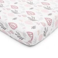 Color Stories - Prześcieradło do łóżeczka Floral zamglony róż 120x60 cm
