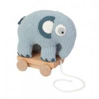 Sebra Szydełkowy niebieski słoń do ciągnięcia